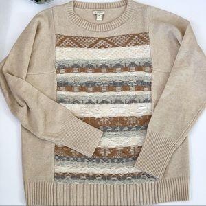 J.Crew Factory Jacquard- Stitch Fair Isle Sweater